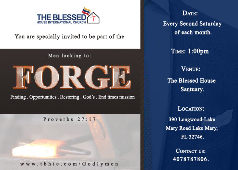 FORGE Men's Group at The Blessed House International Church