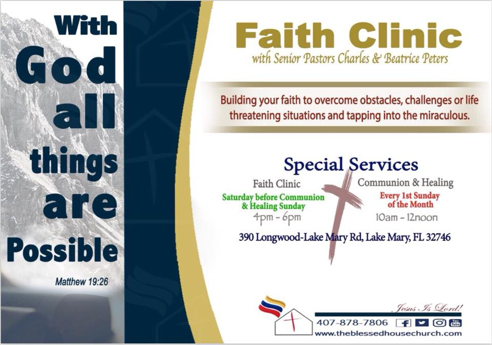 The Blessed House International Church - Faith Clinic